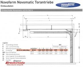 Novomatic 563 S, 800N mit LED komplett mit Schiene