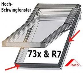 Abdeckrahmendichtung für Roto 73x / R7x Dachfenster