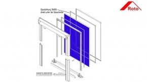 Glasdichtung INNEN für Roto 64x/84x Kunststoff Dachfenster