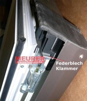 Federblech Klammer Roto 64 / 84x K