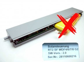 Ersatz Solarsteuerung Roto Solar-Funk Rollladen RT2 SF Ersatz Solarsteuerung Roto Ohne Akku