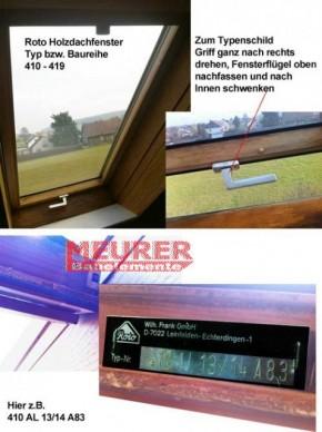 """410 bis 419 Dachfenster """" UNTEN"""" Baujahr 1981-94"""