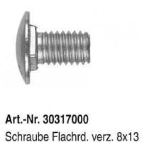 Schraube Flachrd. M8 x 13