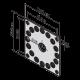 Universal Stahl-Montageplatte
