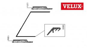Velux Anschlagdichtung unten für Fensterflügel GGL bis Bj. 2000
