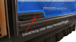 Velux Drain Dichtung Holz Fensterflügel unten