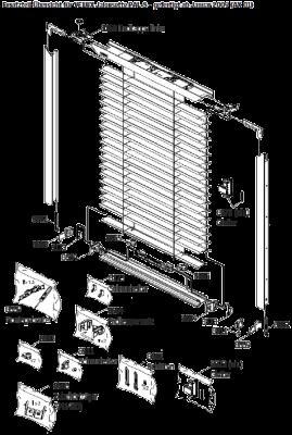 Velux Jalousette PAL und PAL-S 8173 Schnurhalter unten Kunststoff Grau