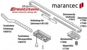 Schaltnocke Marantec, Schiene mit Zahnriemen