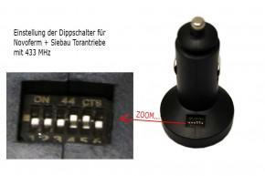 Auto Zigarettenanzünder Handsender für Siebau / Novoferm Antriebe