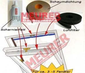 ZZZ 220 Velux Kombi-Pflege-Set für Holz und Kunststoff Dachfenster